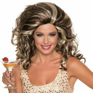 🆕 Rubie's ANITA COCKTAIL Wig Unisex Adult Queen